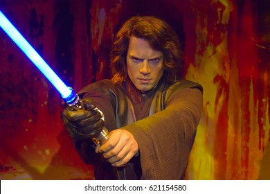 London, United Kingdom - March 17, 2017: Luke Skywalker wax figure at Madame Tussauds London