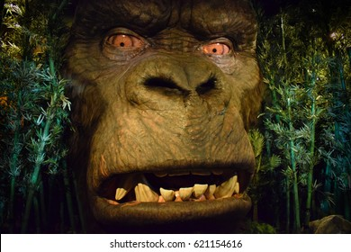 London, United Kingdom - March 17, 2017: King Kong wax figure at Madame Tussauds London