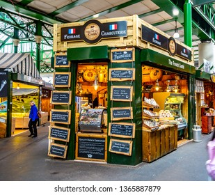 London / United Kingdom — March 19, 2019: Borough Market in Southwark, London. It is one of the largest and oldest food markets in London.