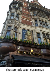 LONDON, UNITED KINGDOM - MARCH 23, 2017: The Wellington is a traditional pub in London, UK.