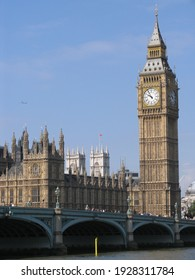 London, United Kingdom - March 25 2005: Westminster palace with the tower bell called Big Ben, in a sunny day.