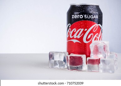 London, United Kingdom - May 11, 2017. Can of Coke Zero. Like Diet Coke, Coke Zero is sweatened with Aspartame, but each has its own distinctive flavour and sweatener blend.