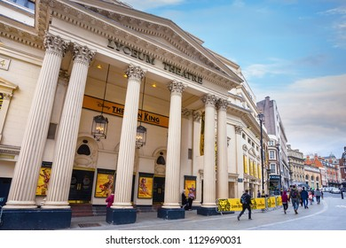 LONDON, UNITED KINGDOM - MAY 12 2018: The Lyceum Theatre is a 2,100-seat West End theatre located in the City of Westminster, on Wellington Street