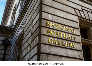 LONDON, UNITED KINGDOM - MAY 13 2018: National Portrait Gallery opened in 1856, the world's first portrait gallery, houses a collection historically important and famous British people portraits.