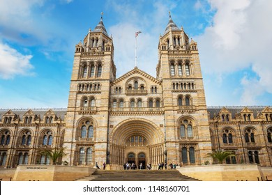 LONDON, UNITED KINGDOM - MAY 14 2018: The Natural History Museum houses a vast range of specimens of natural history, science specimens comprising 80 million items in 5 main collections