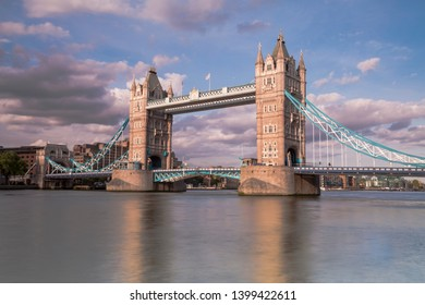 London, United Kingdom- May 16 2019. London Bridge is situated at River Thames in England.A tourist attractions every year..Also known as tower bridge & built in 1886.Iconic bridge in Britain & Europe