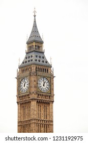 London, United Kingdom, May 19, 2013: Elizabeth Tower and clock, commonly referred to as Big Ben, on the north end of Palace of Westminster, home to the  Houses of Parliament.