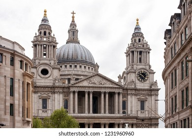 London, United Kingdom, May 19, 2013: View of St Pauls Cathedral, an Anglican cathedral, the seat of the Bishop of London and the mother church of the Diocese of London.