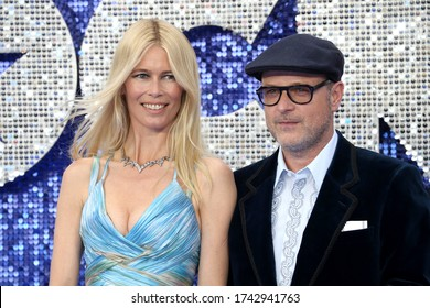 """London, United Kingdom - May 20, 2019: Claudia Schiffer and Matthew Vaughn attend the """"Rocketman"""" UK premiere at Odeon Luxe Leicester Square in London, UK."""
