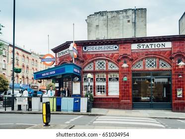 London, United Kingdom - May 23, 2017 : Maida Vale Subway Station