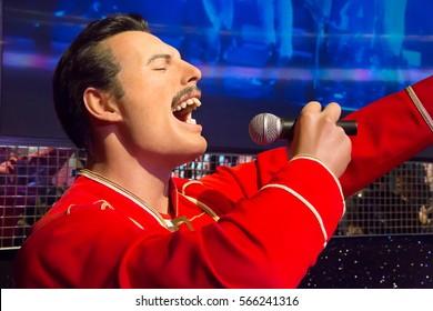 London, United Kingdom - May 25, 2016: Freddy Mercury in Madame Tussauds of London