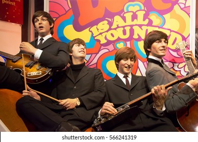 London, United Kingdom - May 25, 2016: The Beatles in Madame Tussauds of London