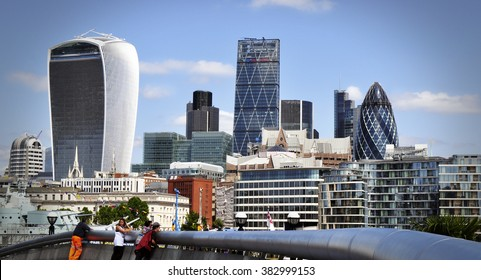 London, United Kingdom - November 11, 2015: London skyline