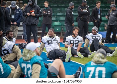 London, United Kingdom - November 1st 2019: Jacksonville Jaguars Media Day