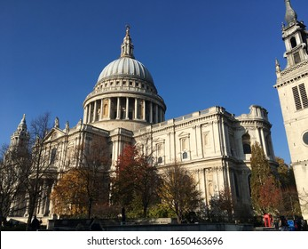 London, United Kingdom- November 2018: Views of St. Paul's Cathedral