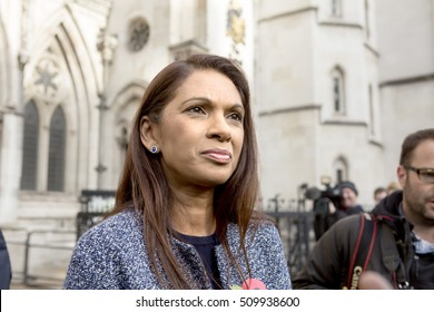 London, United Kingdom - November 3, 2016: Brexit High Court Judgement.Gina Miller was part of the party that brought the case against the government asking for sovereignty of parliament.