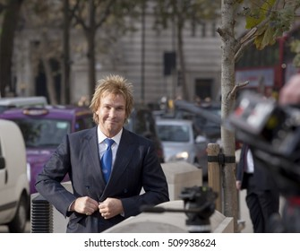 London, United Kingdom - November 3, 2016: Brexit High Court Judgement. Charlie Mullins of Pimlico Plumbers fame was a major contributor to the people's case against the crown arriving at the court.