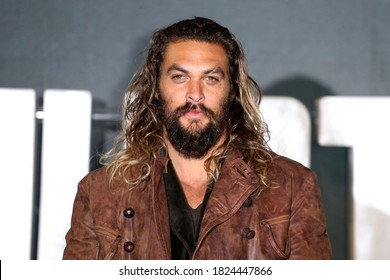 London, United Kingdom - November 4, 2017: Jason Momoa attends the 'Justice League' photocall at The College in London, England.