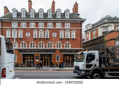 LONDON, UNITED KINGDOM - OCT 11: The Fire Station on Waterloo Road on OCT 11, 2019.