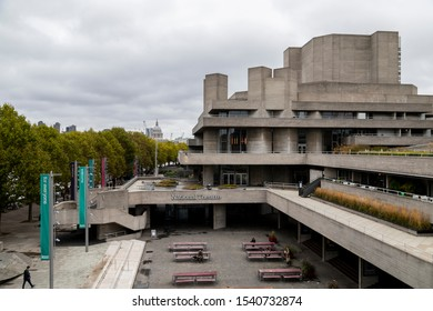 LONDON, UNITED KINGDOM - OCT 11: The National Theatre in London on OCT 11, 2019.