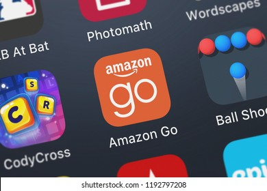 London, United Kingdom - October 01, 2018: Screenshot of the mobile app Amazon Go from AMZN Mobile LLC.