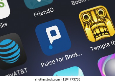 London, United Kingdom - October 01, 2018: Screenshot of the mobile app Pulse for Booking.com Partners from Booking.com.