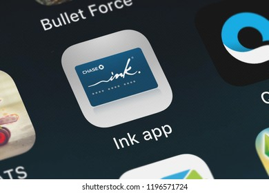 London, United Kingdom - October 01, 2018: Screenshot of JPMorgan Chase  Co.'s mobile app Ink® app.