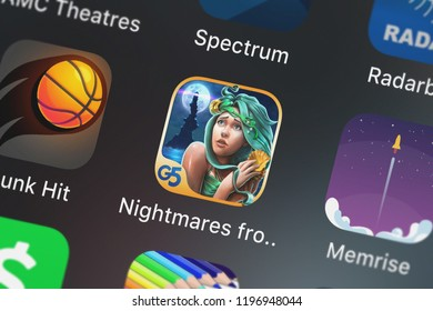 London, United Kingdom - October 05, 2018: Screenshot of G5 Entertainment AB's mobile app Nightmares from the Deep™: The Siren's Call (Full).