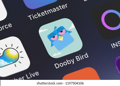 London, United Kingdom - October 05, 2018: Icon of the mobile app Dooby Bird from tastypill on an iPhone.