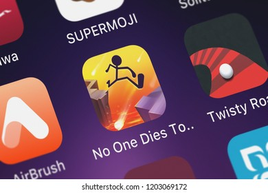 London, United Kingdom - October 05, 2018: Screenshot of the No One Dies Tonight mobile app from Crazy Labs icon on an iPhone.