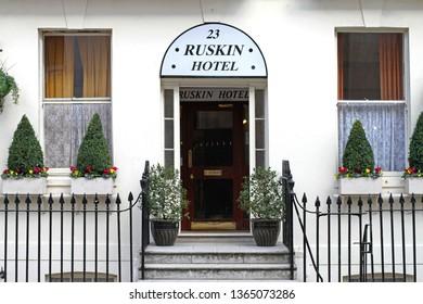 London, United Kingdom - October 12, 2010: Ruskin Hotel at Bloomsbury in London, UK.