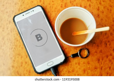 """""""London, United Kingdom- October 1,2018: Bloomberg application help the financial player to new information everyday. In financial money never sleep."""""""