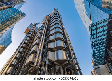 LONDON, UNITED KINGDOM - OCTOBER 26: City of London modern architecture and high rise buildings on October 26, 2017 in London