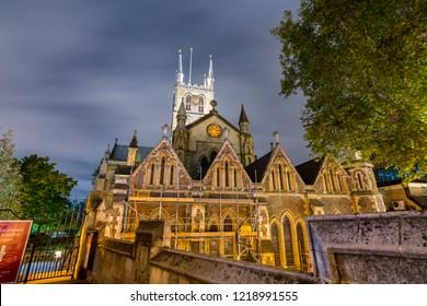 London, United Kingdom - October 28 2018: Southwark cathedral