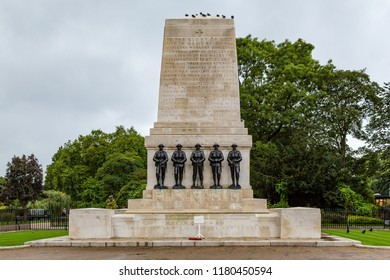 London, United Kingdom - October 3 2017: The Guards Memorial, also known as the Guards Division War Memorial, is  commemorating the war dead from the UK Guards Division and Household Division.