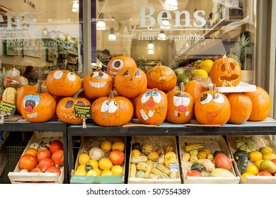 London, United KIngdom, - October 30, 2016: Halloween is not traditional to London. The celebration of it has been introduced by ex-pat Americans. Still Londoners have begun to embrace the festival.
