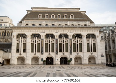 London, United Kingdom - October 30th, 2017:- The Guildhall Art Gallery located next to the City of London guildhall