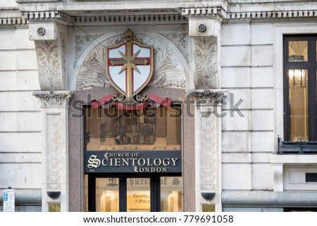 London, United Kingdom - October 30th, 2017:- Church of Scientology building in London