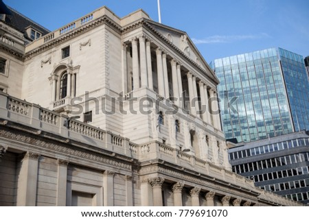London, United Kingdom - October 30th, 2017:- The bank of England Central bank of the UK located on Threadneedle Street