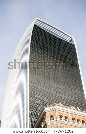 London, United Kingdom - October 30th, 2017-The Walkie Talkie Office Building at 20 Fenchurch Street