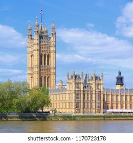 London, United Kingdom - Palace of Westminster (Houses of Parliament). UNESCO World Heritage Site.