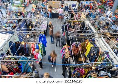 London, United Kingdom - September 22, 2019: Old Spitalfields Market, London, England
