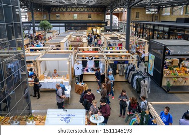 London, United Kingdom - September 22, 2019: Old Spitalfields Market, London, England
