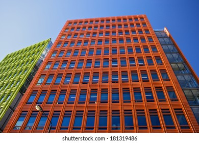 LONDON, UNITED KINGDOM - SEPTEMBER 7, 2012: Central St Giles is Renzo Piano's first building in the United Kingdom to open, built at a cost of 450 million GBP.