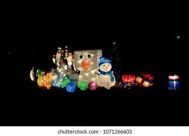 London United Kingdom-December 02 2017:Annual exhibition magical lantern festival