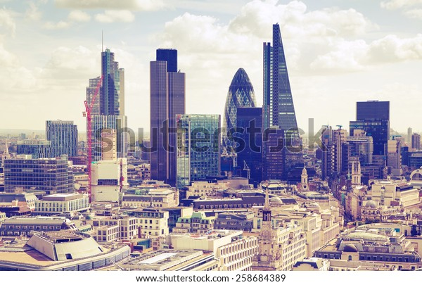 London. View on business modern district
