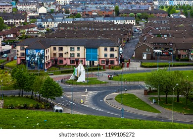 Londonderry, Derry, Northern Ireland - April 24, 2011: Derry The majority-Catholic community of Bogside in Derry, Northern Ireland.