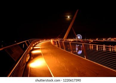 Londonderry/Derry at night, Northern Ireland