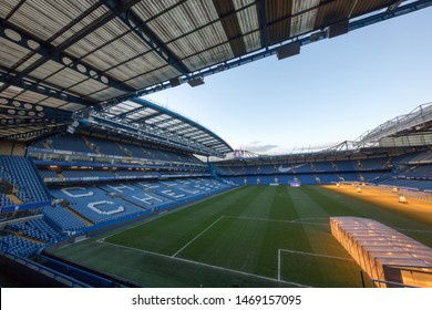 LONDON/ENGLAND - 01 February, 2018 : Visiting Stamford Bridge - the official stadium of Chelsea FC.