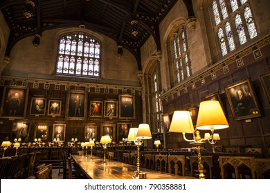 London/England 2/25/2017 / The great hall of Oxford university